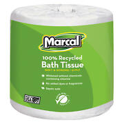 Marcal Toilet Paper 100 Recycled - 2 Ply White Bath Tissue 336 Sheets- 48 Roll