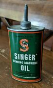 Vintage Singer Sewing Machine Oil 3oz Tin Can - Empty