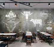 3d Beef Barbecue 5354na Wallpaper Wall Mural Removable Self-adhesive Fay