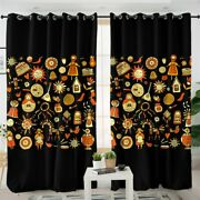 Yellow Russian Festival Doll Sun Window Living Room Bedroom Curtains Drapes