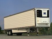 1/64 Dcp White Wabash 53and039 Articlite Tandem Axle Trailer W/ Thermo King Reefer