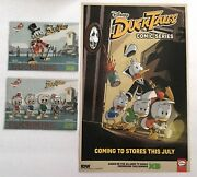 D23 Expo Ducktales Disney Complete Patch Set Scrooge Mcduck And Poster Ship Flat
