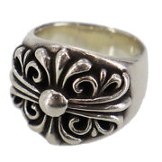 Chrome Hearts Silver Keeper Finger Ring Silver Vintage Authentic Qq291