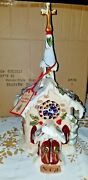 Blue Sky Clayworks Silent Night Church Candle House Tealight Goldminc New Boxed