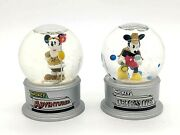 Mickey Mouse Snow Globes - Mickey Adventurer - Mickey Detective - 3.5