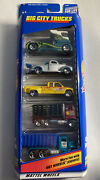 Hot Wheels 2000 Big City Trucks 5 Pack 40and039s Ford Chevy C3500 Dump Truck 5
