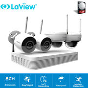 Laview 8ch 1080p Wireless Nvr Security System W/2x 2mp Bulletanddome Ipc W/1tb Hdd