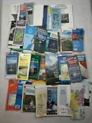 Vtg 70s 80s 90 2000s Lot Of Road Maps Brochures Tour Books Usa And Europe