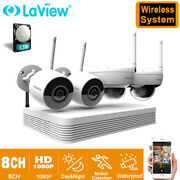 Laview 8ch Nvr 2mp Wifi Bullet/dome Ipc Home Security Camera System W/1tb Hdd