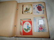 Vintage Greeting Card Scrapbook Collection - 125 Cards Incl A Wartime Letter