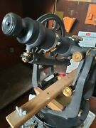 Antique Keuffel And Esser Co. Model P5085c Transit With Storage Box And Tripod