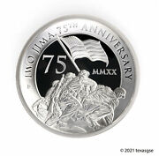 2020-p 5 Iwo Jima 75th Anniversary 5oz High Relief Silver Proof Coin