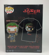 Funko Pop The Joker Death Of The Family Figure And T-shirt Size Small - Batman