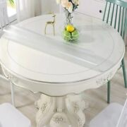 Pvc Transparent Round Shape Table Cloth Dinning Table Cover Waterproof