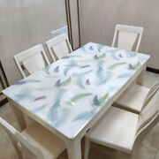 Printed Dining Tablecloths Soft Glass Pvc Waterproof Wedding Party Table Cloth