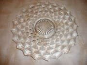 American Fostoria 12 Inch Platter, Cheese And Cracker Clear Crystal Elegant