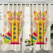 Chinese New Year Dragon Animal Joy Window Living Room Bedroom Curtains Drapes
