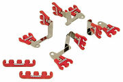 Moroso 72168 Show Car Spark Plug Wire Loom Kit - Red/chrome Small Block Chevy