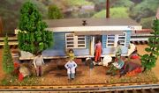 O Scale Custom Built Diorama Trailer Rv Mobile Park Building Assembled Weathered