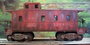 O Lionel Custom Weathered Sp 2257 Southern Pacific Caboose Train, Windows Added