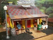 O Scale Custom Diorama Bait And Tackle Shop Building Assembled Built Weathered,ice