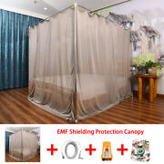 Emf Canopy Radiation Protection Mosquito Net Faraday Cage Silver Fiver Grounding