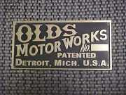 Early Oldsmobile Curved Dash Data Plate Etched Brass