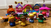 Fisher Price Little People Lot Of 8 Floats Disney Princess Parade Train