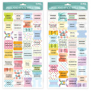 Peel And Stick Colorful Bible Tabs Bible Indexing Tabs For Bible Reading 72
