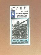 1993 Usa/mobil Outdoor Track And Field Championships Ticket Stub Hayward Field Or