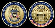 Maryland National Capital Park Police Department Challenge Coin Badge Patch Dnr