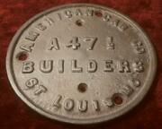 1900s American Car Co Emblem Builders Plate Reproduction Trolley Car Fast Ship