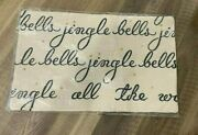 Pottery Barn Jingle Bells Embroidered Pillow Cover Nwt 26x16 Lumbar
