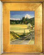 Oregon Us Dept Of State Artist Embassy Collection Mt Hood From Afar Oil