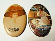 Vintage Coca-cola And Angel 2 Promotional Mirrors