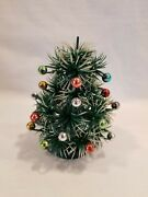 Vintage 5 Artificial Christmas Tree With Round Ball Decorations