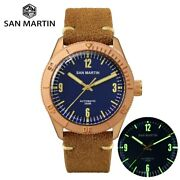 San Martin New Cusn8 Bronze Automatic Diving Wristwatch Mechanical Luxury Style
