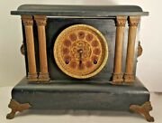 Antique Sessions Ormolu Mantel Clock -eight Day Half Hour Strike Cathedral Gong