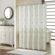 Sdliving Hudson Paisley Waterproof Microfibe Shower Curtaintaupe Polyester Fabr