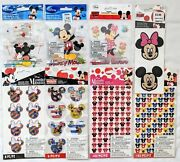 Disney Mickey And Minnie Mouse Scrapbooking Stickers Lot Of 8 Ek Success