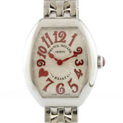 Franck Muller Watches 5002 S Qz C8f J Red Silver Red Stainless Steel Heart ...
