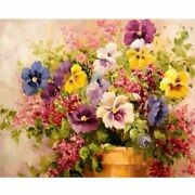 Paint By Numbers Oil Painting Flowers Picture Paint Home Decoration Custom Gift