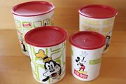 Sets With Lid Tupperware Disney Mickey Mouse Intage Canister