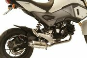 New Mac Honda Grom 125 Polished Aluminum Canister Stainless Steel Exhaust System