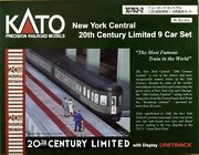 Kato 10-763-2 New York Central Railroad 20th Century Limited 9 Cars N Scale
