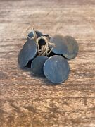 Antique Old Brass Beautiful 7 Piece Lot Coat Buttons Made In India