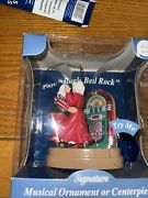 Musical Ornament Mr. And Mrs. Claus Dancing Plays Jingle Bell Rock. Lights Up Bc