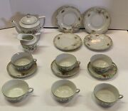 16 Piece Childs Tea Set Made In Occupied Japan Pot Creamer Plates Cups Saucers