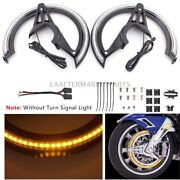 Motorcycle Front Brake Rotor Cover W/ Led Light For Honda Gold Wing Dct 2018-up