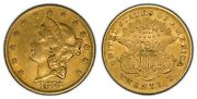 1873 G20 Liberty Head Gold Double Eagle - Luster - Open 3 - Sku-g1048